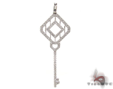 Ladies Diamond Key Pendant 20763 Style