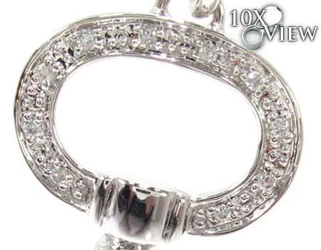 Ladies Diamond Key Pendant 20764 Style