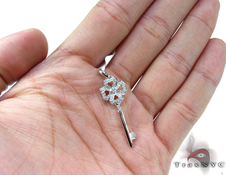 Ladies Diamond Key Pendant 20768 Style