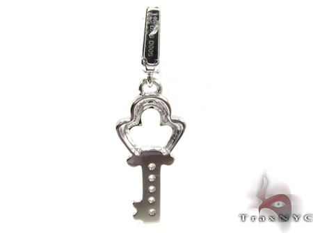 Ladies Diamond Mini Key Pendant 20779 Style