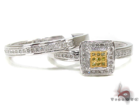 Ladies Diamond Ring Set 20468 Engagement