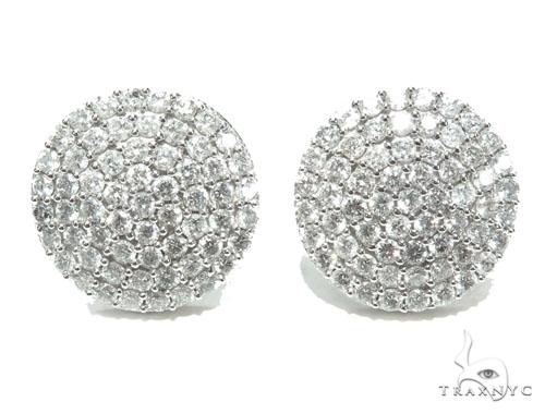 Ladies Dome Earrings Stone