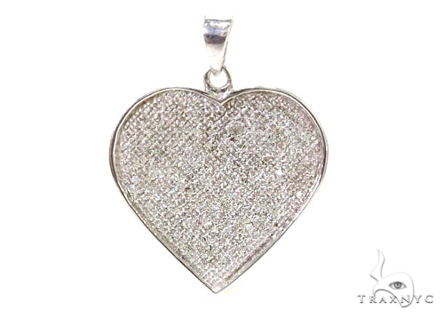 Ladies Heart Diamond Charm 40331 Stone
