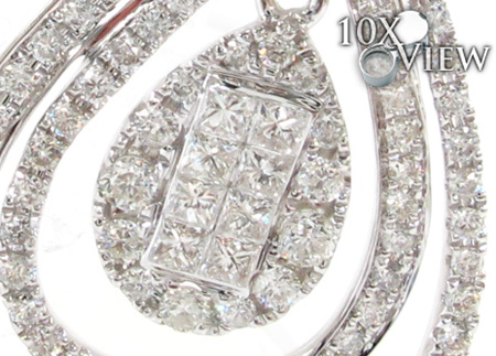 Ladies Invisible Prong Diamond Earrings 21389 Stone