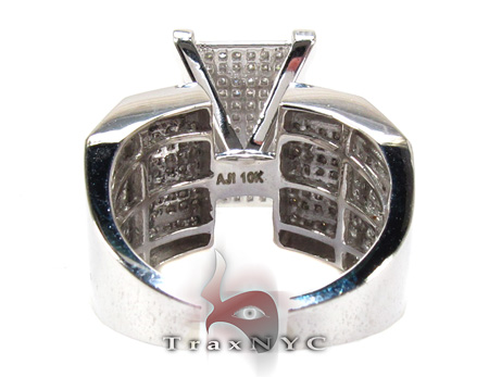 10K White Gold & Diamond Octi-Ring Anniversary/Fashion