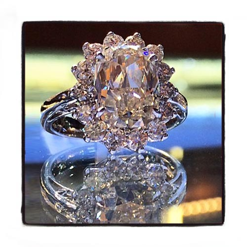 Ladies Oval Cut Diamond Ring 21981 Engagement