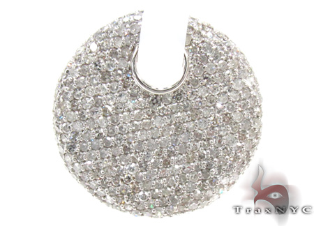 Ladies Pave Diamond Pendant 21528 Stone