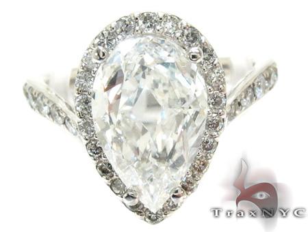 Ladies Pear Cut Diamond Ring 21982 Engagement
