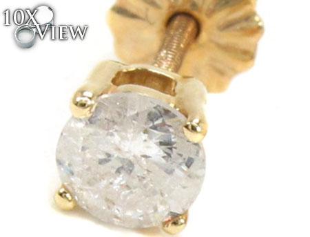 Prong Diamond  Earrings 21680 Stone