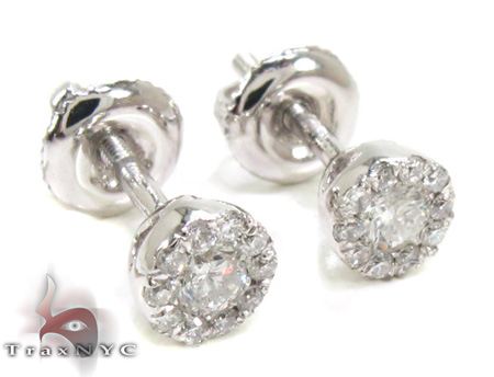 Prong Diamond Earrings 21583 Stone