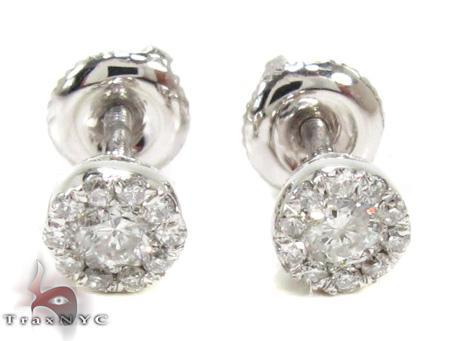 Ladies Prong Diamond Earrings 21586 Style