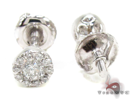 Ladies Prong Diamond Earrings 21586 Style