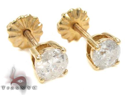 Prong Diamond Earrings 21681 Stone