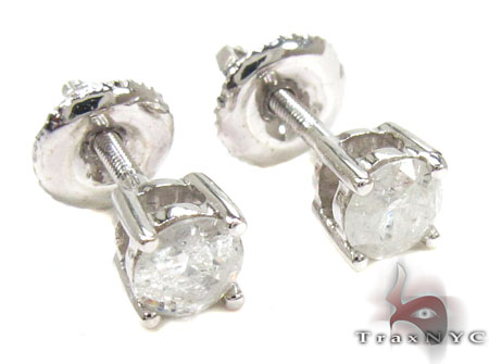 Prong Diamond Earrings 21682 Stone