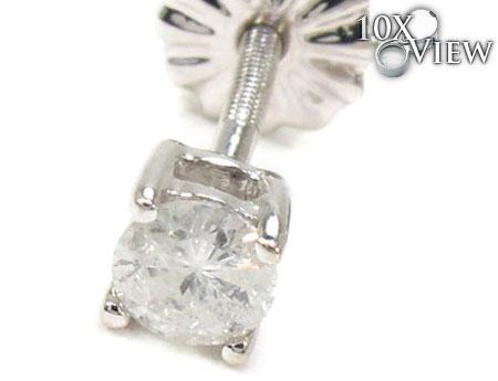 Prong Diamond Earrings 21683 Stone