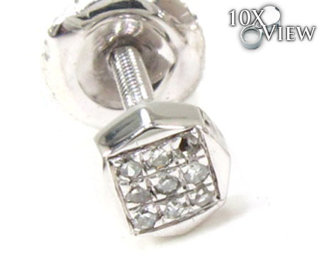 Ladies Prong Diamond Earrings 21754 Stone