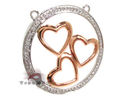 Ladies Prong Diamond Heart Pendant 21524 Stone