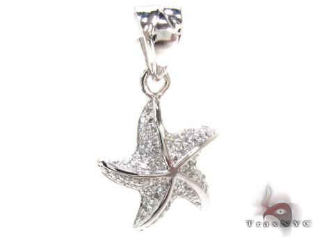 Ladies Prong Diamond Pendant 21526 Stone