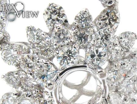 Ladies Prong Diamond Semi Mount Earrings 22310 Stone
