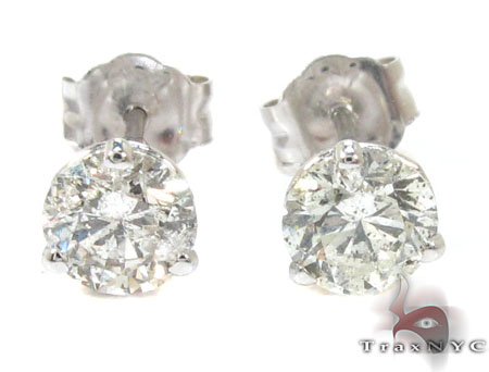 Ladies Prong Diamond Stud Earrings 22081 Stone