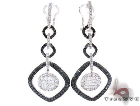 Ladies Diamond Chandelier Earring White Gold 14K Round Cut G Color SI1 4.71ct