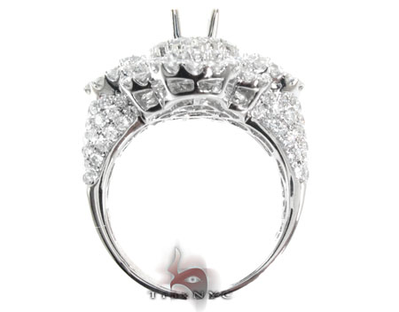 Ladies Prong Pave Diamond Semi Mount Ring 22329 Engagement