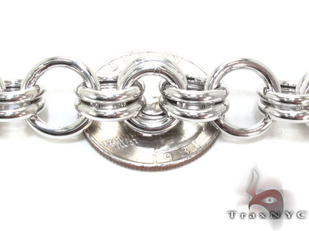 Ladies Silver Bracelet 21850 Silver & Stainless Steel