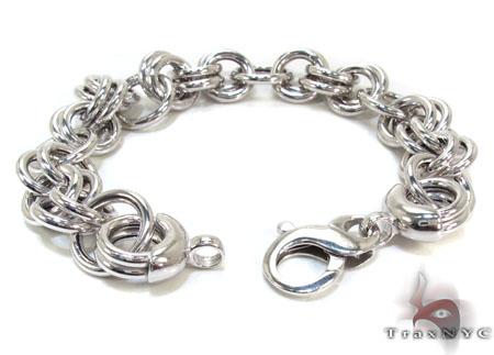 Ladies Silver Bracelet 21850 Silver & Stainless Steel