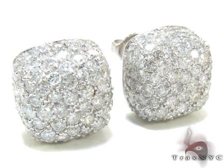 Diamond Pillow Earrings 21333 Stone