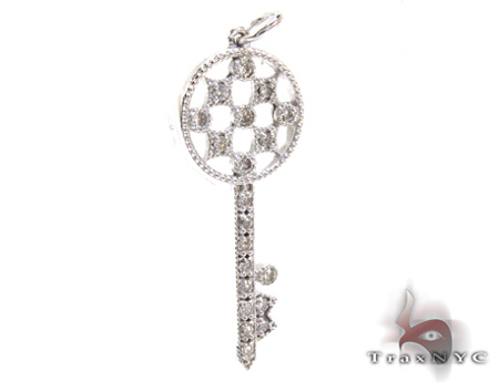 Ladies Diamond Key Pendant 21197 Style