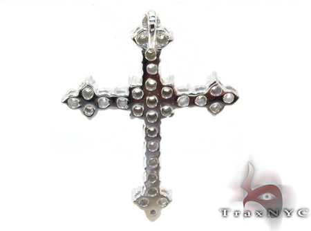 Ladies Prong Diamond Cross 21206 Style