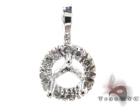 Ladies Semi Mount Diamond Pendant 21205 Style