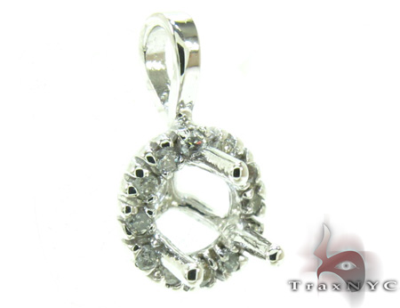 Ladies Semi Mount Diamond Pendant 21205 Style