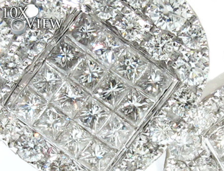 Ladies White Gold Heart Diamond Bracelet 21122 Diamond