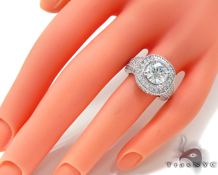 Ladies White Gold Prong Diamond Ring 20913 Engagement