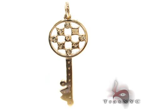 Ladies Diamond Key Pendant 21196 Style