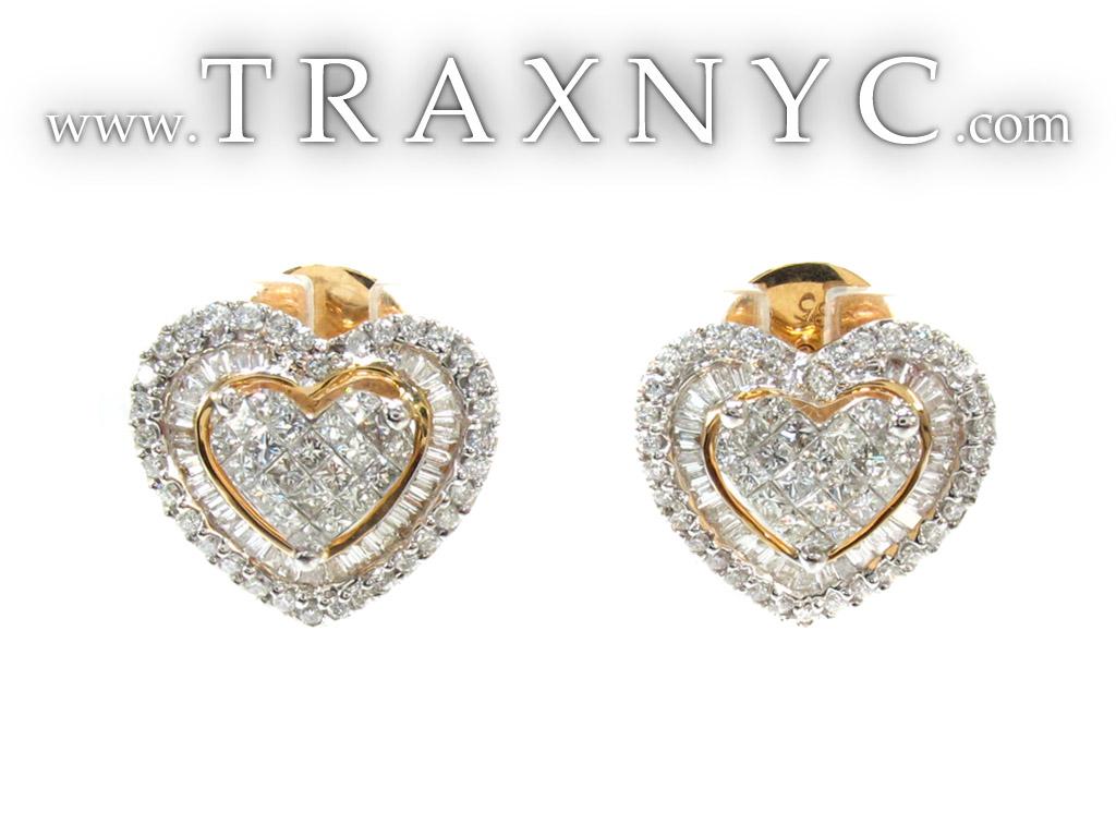 Diamond heart earrings -  Diamond Earrings For Women Source