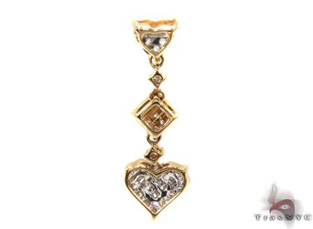 Ladies Yellow Gold Diamond Heart Pendant 20862 Style