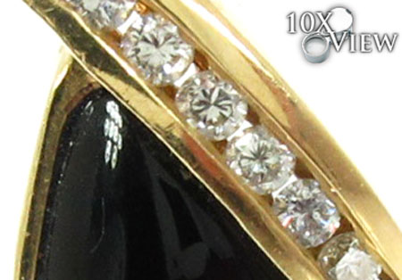 Ladies Onyx & Diamond Pendant 20842 Stone