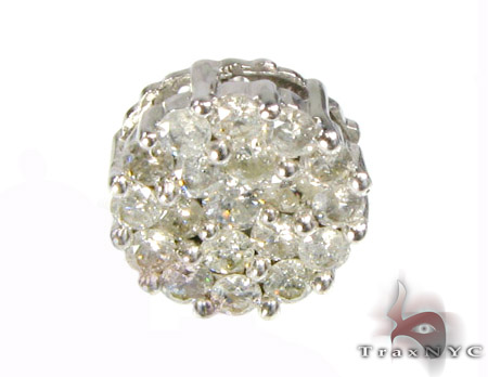 Large Round Cut Earring Single Style