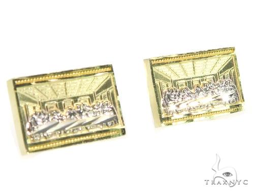 Last Supper Gold Earrings 45467 Metal