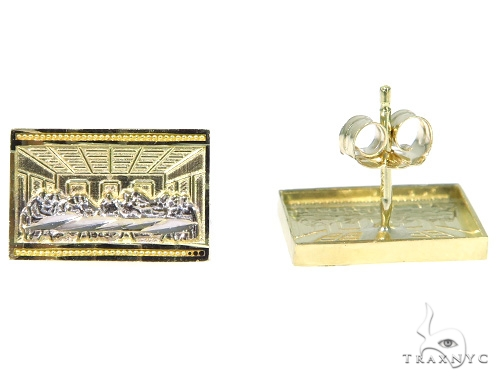 Last Supper Gold Earrings 45467 Metal