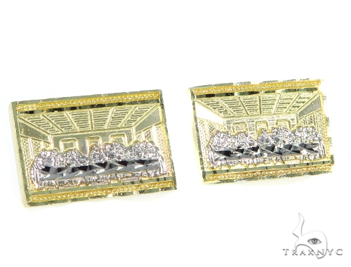 Last Supper Gold Earrings 45489 Metal