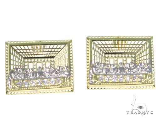 Last Supper Gold Earrings 45490 Metal