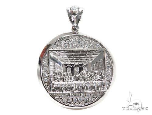 Last Supper Sterling Silver Pendant 40874 Metal