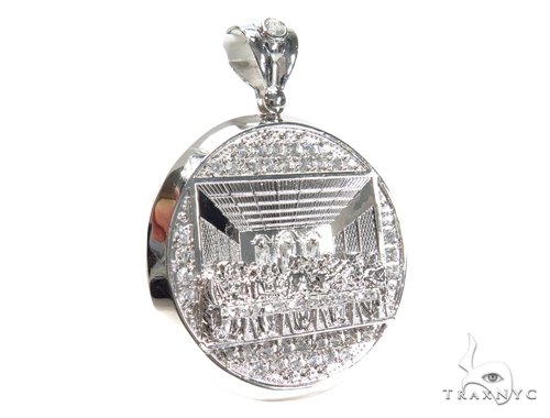 Last Supper Sterling Silver Pendant 40874 Metal