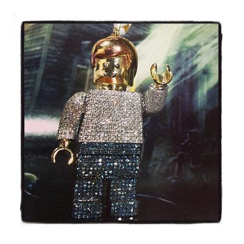 Lego Pendant Metal