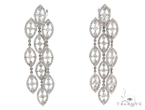 Leto Prong Diamond Earrings & Necklace Set 43814 Diamond