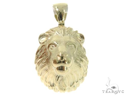 Lion Gold Pendant 45317 Metal