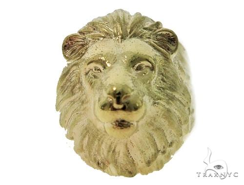 Lion Gold Ring 49783 Metal